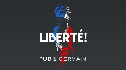 Bastille Day at PUB St GERMAIN Paris